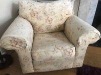 Large HARRODS Vintage Floral Print Armchair, super comfy!