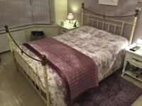 king size bedframe gold and ivory. mattress not included.