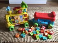 Vtech push and ride alphabet train with letters 👍👍👍👍👍