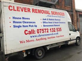 Man and Van, Specialist in House and Office Removal services, Single Item Pick ups, Rubbish Removal.