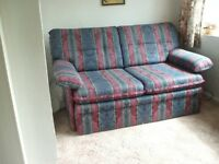 Sofa bed with storage. Pulls out to 4 ft double bed.