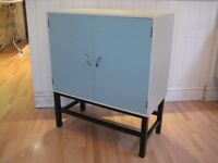 Stylish Mid-Century Vinyls / Records Cabinet from 1960s - Professionally painted in F&B Eggshell