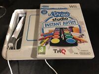 Nintendo Wii U draw studio tablet and disc