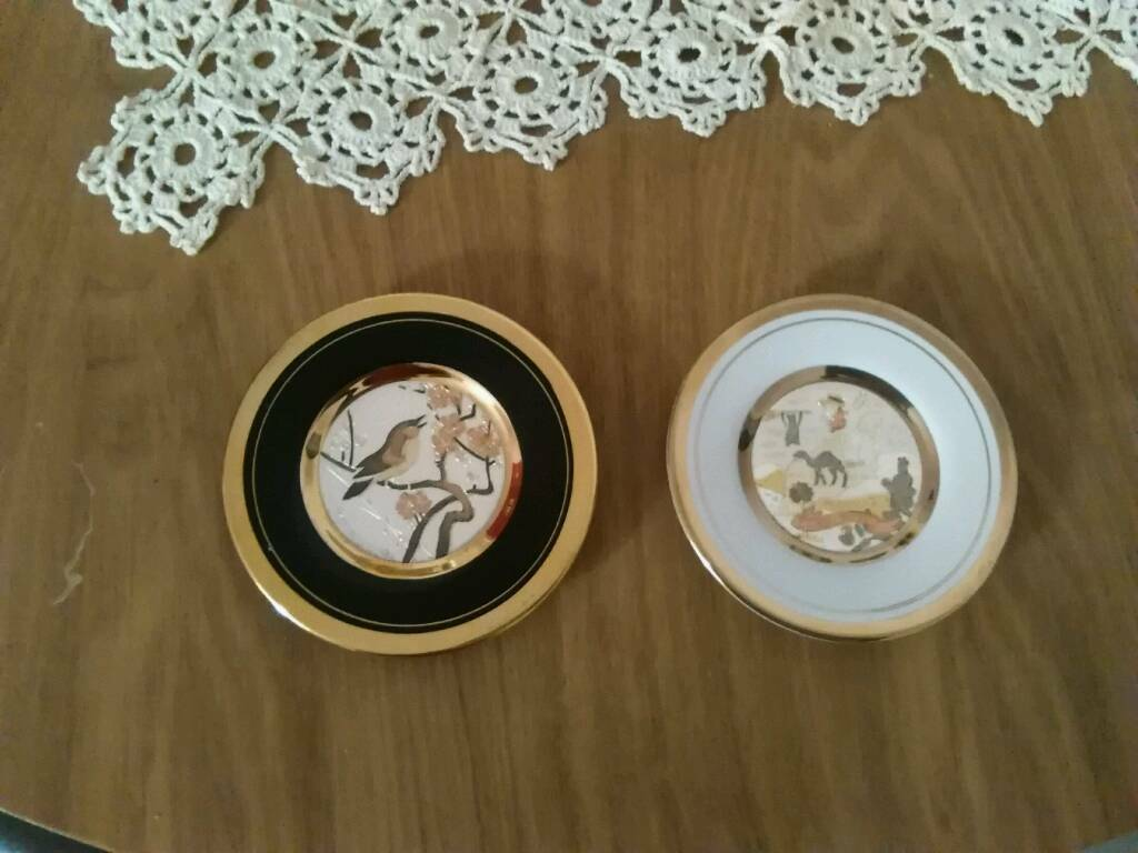 2 Plate 'the art of zogan & chokin'