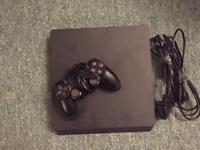 PS4 slim, jet black, brand new