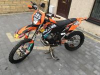 KTM 200 EXC 2009 58 PLATE 137 HOURS FROM NEW FULL ROAD REGISTERED