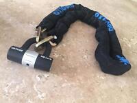 Motorbike chain padlock
