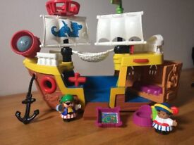 Little People pirate ship + accessories