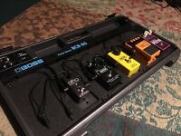 Guitar effects pedal board with 5 great pedals (worth over £640)
