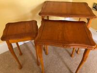 Regency reproduction yew nest of tables