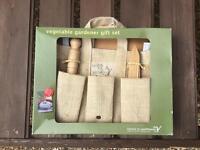 Vegetable gardener gift set new