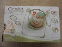 Portable Baby Swing with Soothing Melodies - Boxed