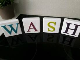 Freestanding Colourful 'Wash' Ceramic Letters