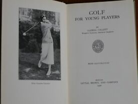 Antiquarian book 1st edn 1926 Golf for Young Players Glenna Collett