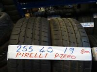 PAIR OF MATCHING 255 40 19 PIRELLIS 8mm TREAD £80 PAIR SUPP & FITD (loads more av} TXT SIZE TO 07498