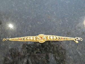 22k yellow gold ladies bracelet 14.8grams