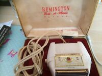 1960s Remington roll-a-matic deluxe shaver