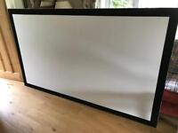 Professional grade blackout projector screen