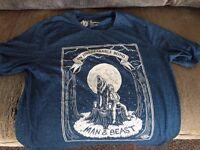 Elements Skateboards t-shirt XL - blue - An Unbreakable Bond - Man & Beast