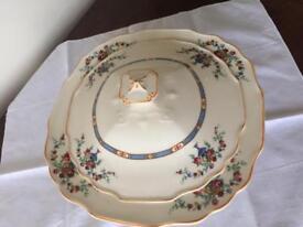 Myott Vintage 1930s Lidded Tureen Casserole Serving Dish