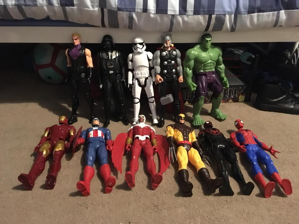 12 inch marvel and Star Wars figures