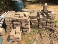 Brick weave block paving
