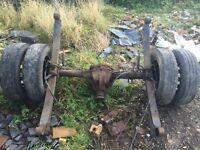 ford transit mk7 twin wheel rear axel complete £180
