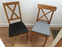 Two dining/desk chairs