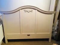 Next shabby chic cream double bed