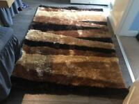 Black and brown rug 120cmx170cm