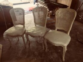3 French chairs (occasional). Classic French chic. Would compliment any room.