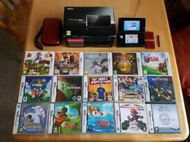 Nintendo 3DS + 15 games + extras