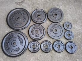 50kg of Metal Weight plates