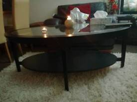 Luxury glass coffee table