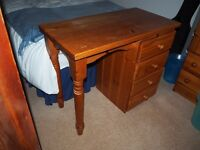 Pine dressing table with four drawers
