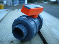 High quality PIMTAS PVC pipe fittings, ball valves 2 inch DN50 plain and threaded