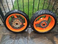 Honda Fireblade 1996 set of Wheels and Tyres with discs