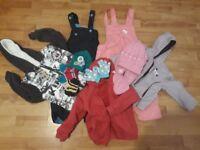 Warm winter kids bundle - snow waterproof pants, hoodies, gloves, hat