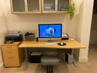 Like new - office desk for sale (with or without 3 draw filing cabinet) Bargain for quick sale.