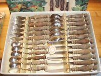 Rustic German WMF Burgund Tableware