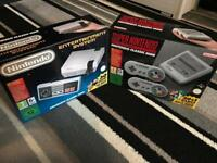 Mini Nes and Mini SNES
