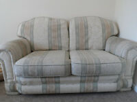 GOOD CLEAN SOFA TWO SEATER SOFA FABRIC EXCELLENT CONDITON PATTERNED DESINGN ECCLES LOCAL