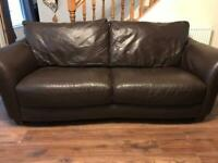 2x brown sofas