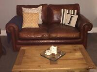 Parker Knoll 2x2 real leather sofas and chair (derwent leather)