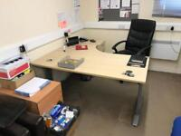 Office desks, chairs and draw sets
