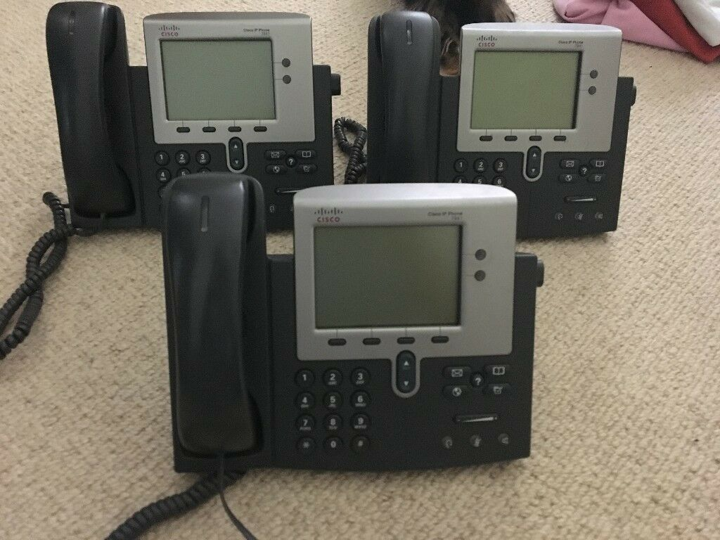 Set of 3 Office Telephones (Can Be Purchased Individually) Cisco ip phone  7941 | in Hove, East Sussex | Gumtree