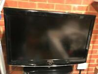 "Samsung 37"" Tv and Glass Tv unit"