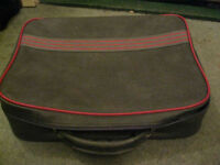 Smart Grey and Red Trim Carry-On Travel Case