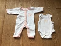 Girls Premature Babygrow and Vest