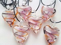 Glass Heart Pendants••LOOK BARGAINS